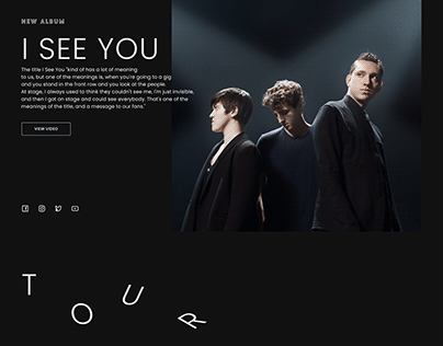 THE XX - website for singer. A new concept.