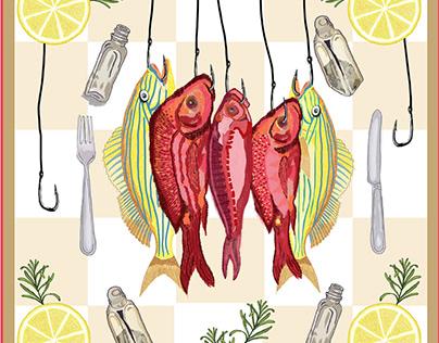 Lunch is served - Digital Illustration