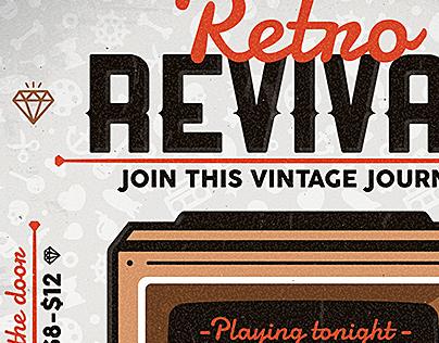 Retro Revival - Flyer & Poster Template
