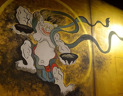京八拉麵 日本光琳派 壁畫設計 Japanese ramen restaurant mural design