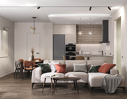 The 3D visualization of the apartment interior