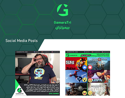 Gamerstri Social Media and Website design