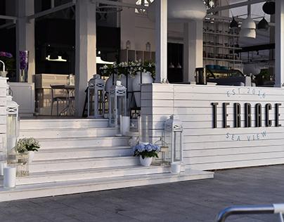Restaurant in Odessa.Terrace Sea View