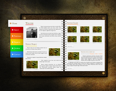 Notebook Portfolio Homepage