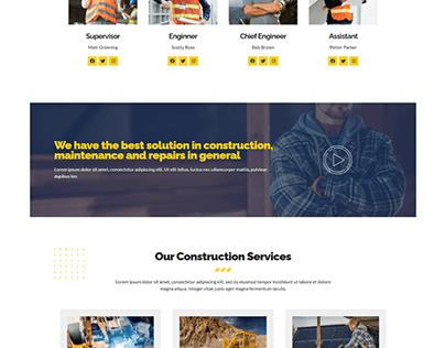 Construction & Repairwith website wordpress