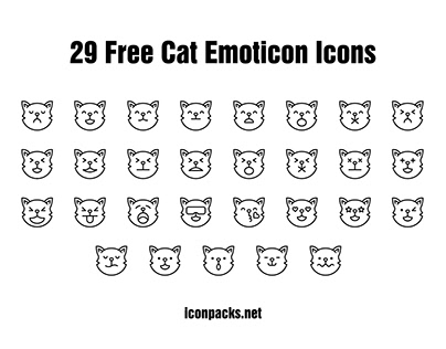 29 Free Cat Emoticon Icons
