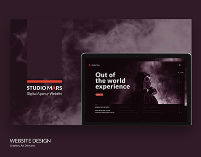 STUDIO MARS Website. UI/UX