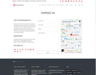 Contact Sidebar Page - Employment WordPress Theme
