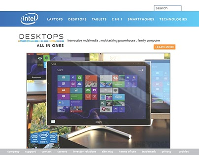 Class Assignment to redo Intel website -POP All-in-Ones