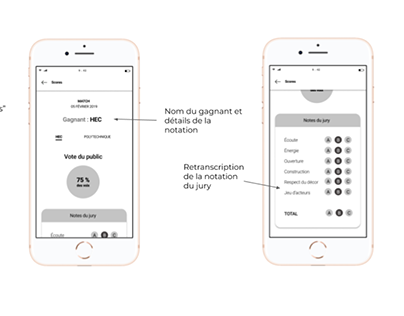 Improvisation app mobile - UX Design