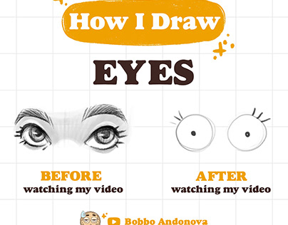How I DRAW EYES - in my YouTube channel