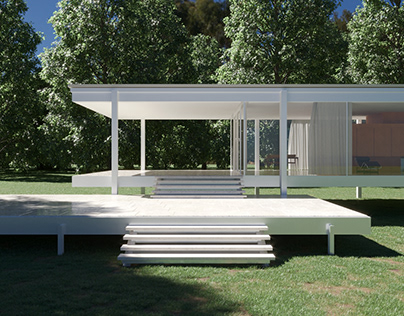 """""""Farnsworth House by Ludwig Mies van der Rohe"""""""