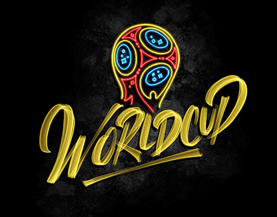 Football World Cup 2018 Lettering