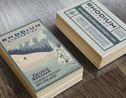 Branding and site design for Rhodium Strategies