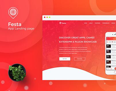 Festa App Landing Page