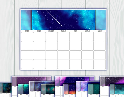 Undated printable calendar planner