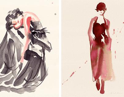 I N K / Fashion Dress study's