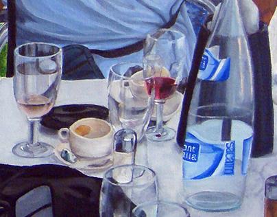 Mum and Dad at Es Baluard Restaurant.