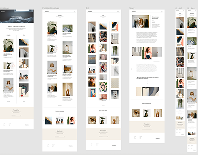 Inblick— design process of creating a webzine in 5 days