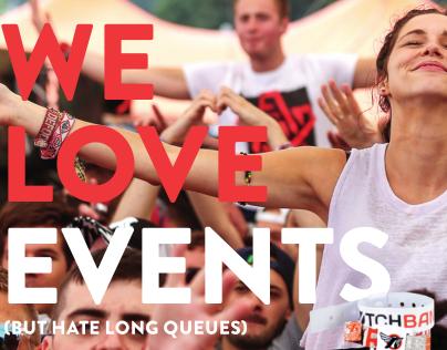 Adverts: Dutchband We Love Events campaign UK