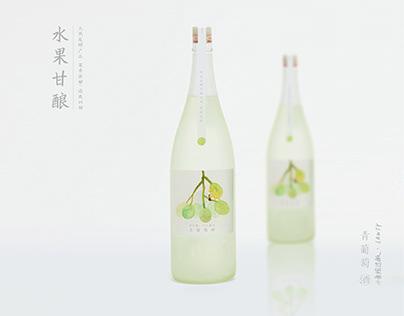 水果甘酿 - 酒包装插画设计练习