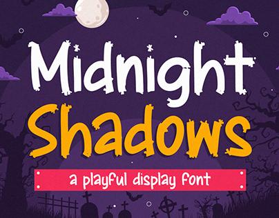 Midnight Shadows - Playful Display Font