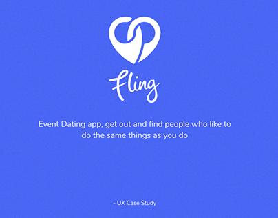 FLING - Event Dating App UX Case Study