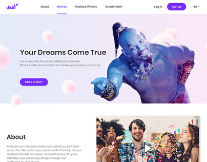 WishX Landing Page Redesign