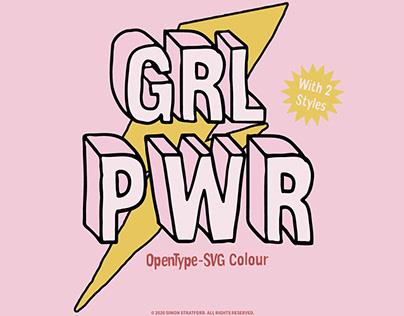 GRL PWR font