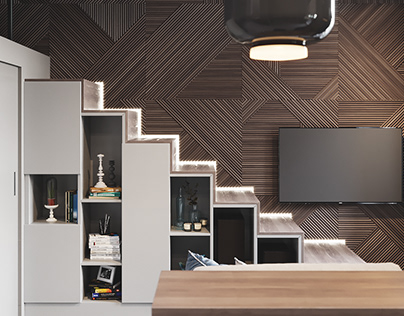 Studio in Moscow 3D visualization