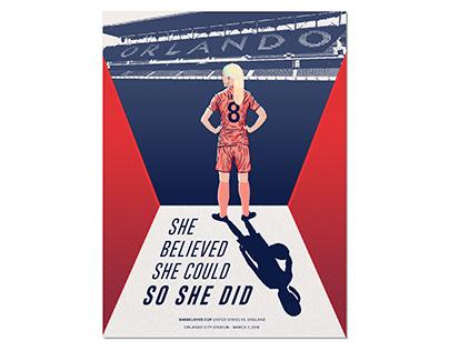 USWNT Match Day Poster