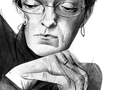 Anna Politkovskaya portrait