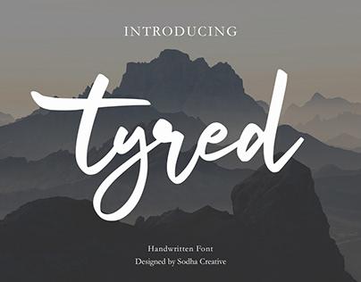 Tyred Handwritten Font