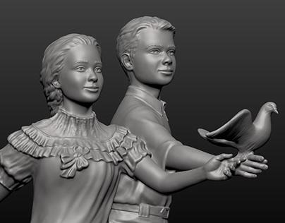 Sculptural Composition - details - The Lower Pair #3