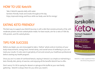 KetoVit Forskolin - Read The Reviews Before You Buy!