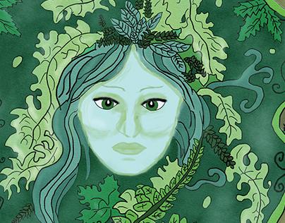 Art Noveau Mother Earth