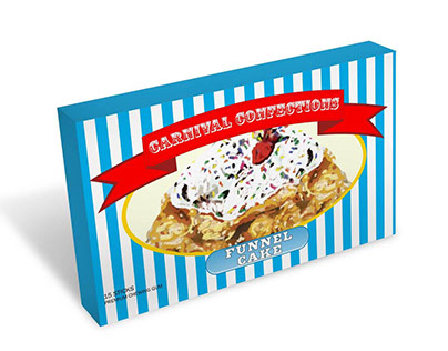 Carnival Confections Funnel Cake Gum Packaging