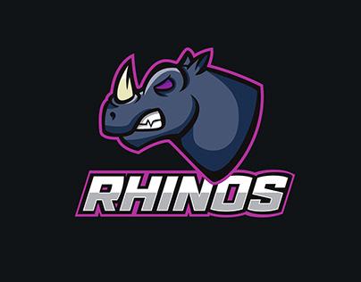 Rhinos, Practice Illustration from tutorial