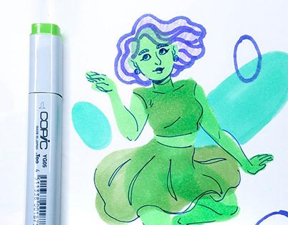 Assorted Marker Sketch Timelapse videos