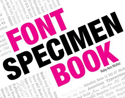 Font Specimen Booklet