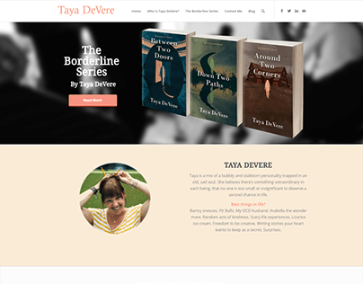 Website for Author Taya DeVere
