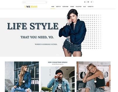 WS Jeans – Responsive Clothing wordpress theme