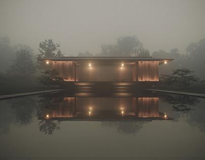 Meditation pavillion