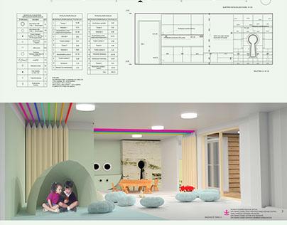 Kindergarten interior project