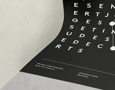 Affiches expérimentales sur John Cage