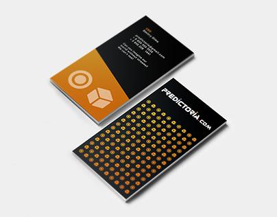 Business card for Predictoria.com, part 2