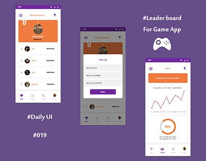 Leader Board Daily UI 19