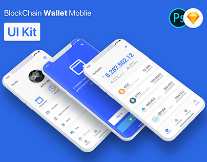 BlockChain Wallet Moblie APP UI Kit