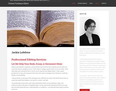Ottawa Freelance Editor Website