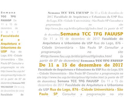 Cartaz TFG/TCC FAUUSP